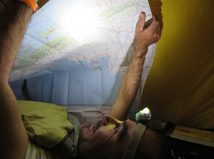 carte geante dans la tente